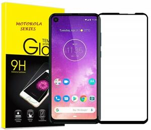 Full Screen Cover Moto G7,G8,One,E5,Z4,Z3 Play Tempered Glass Screen Protector