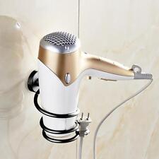 Wall Hair Dryer Holder Rack Space Aluminum Bathroom Wall Holder Shelf Storage UK