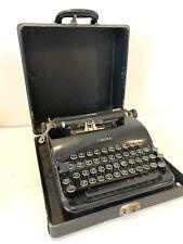 Vintage 1930's Glossy Black L.C. Corona & Smith Speedline Series 2C Typewriter