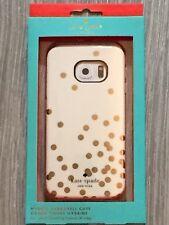 Kate Spade Hybrid Hardshell Case Confetti Dot Gold Cream Samsung Galaxy S6 Edge