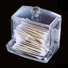 Clear Acrylic Q-tip Makeup Storage Cotton Swab Organizer Box Case cosmétique AH