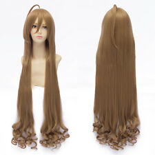 100cm Long Curly Anime Cute Aisaka Taiga Flax Brown Cosplay Wig Hair Toradora!