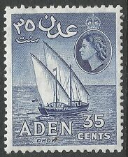 Elizabeth II (1952-Now) Mint Hinged Adeni Stamps (Pre-1967)