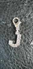 Clip On Letter J Dog/Cat  Collar Charm Tag