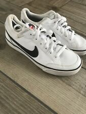 Nike Uk Size 4 White Leather Trainers