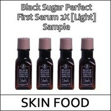 [SKIN FOOD] Sample Black Sugar Perfect First Serum 2X [Light] 30ml * 2ea / (일)