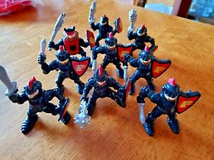 9 Fisher Price Great Adventures Castle Black Knight Action Figures