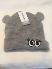 NWT Carter's unisex Gray Sock Hat 2t-4t