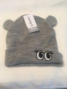 NWT Carter's unisex Gray Sock Hat 2t-4t