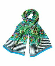 Oilily Flower Goa India Scarf in Blueberry