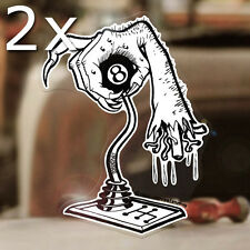 """2x pieces Bone Shifter by Stanley Mouse sticker decal hot rod rat fink 5.25"""""""