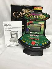 Vintage Desk Top Electronic Game Casino 2 in 1 Black Jack and Poker
