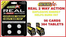 Stacker2 2 Real 2 Way Action Energize Boost  4 Tablets (Lot of 48 X Cards) = 192