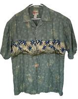 Hilo Hattie The Hawaiian Original Silk Short Sleeve Aloha Shirt Size Large L