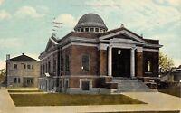 Norwalk Ohio~Carnegie Public Library~West Main Street~1911 Postcard