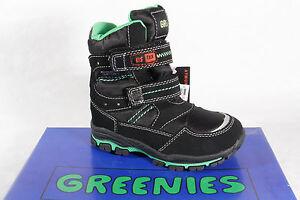 Greenies Ragazzo Tex Stivali Invernali Nero Tex 3SR1 Nuovo