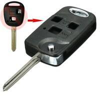 3BTN Folding Flip Remote Key Fob Case Shell TOY43 Blade For TOYOTA AVENSIS