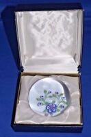 "Baccarat France Glass Crystal Paperweight 1971 floral 3 1/4"" figurine w/ box"