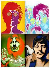 "THE BEATLES  Psychedelic Portraits • Avedon • Non Fade 11x14"" HQ Print Replica"