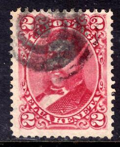 HAWAII #43 2c ROSE, 1886 KING DAVID KALAKAUA, USED