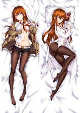 "Steins;Gate Makise Kurisu Dakimakura Bed Hugging Body Pillow Case Cover 13""×39"""