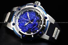 """RARE Invicta 53mm Bolt """" FIRE PHOENIX """" Automatic Blue Dragon Silicone Watch"""