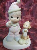 "Precious Moments #522325 ""SOMEBODY CARES"" Monkey w/Clown -1998 Easter Seal-NIB"