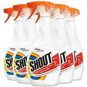 Shout Stain Remover Laundry Spray Triple-Acting Spray to Lift Stains 500ml X 6