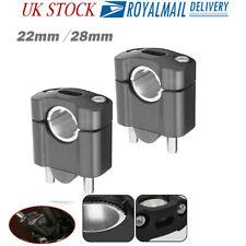 22/28mm Universal Bar Clamp Riser Taper Handlebar Motorcycle Motorbike Aluminium