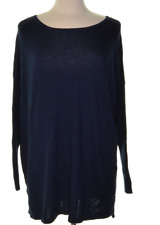 NWT Style & Co. Batwing-Sleeve Tunic Sweater Color: Indigo Blue Size: M