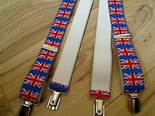 "UNION JACK  MEN CLIP BRACES 44"" LONG, 1.3"" WIDE"
