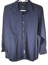 Greg Norman Men's Size XL Dark Blue Button Down Long Sleeve 100 % Cotton Shirt