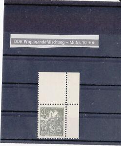 DDR - Abart - Propagandafälschung (Michel 10) -23-