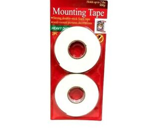 Double Sided Mounting Tape Adhesive No More Nails Picture Hanging Strips 2 Pack