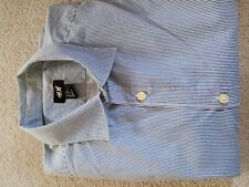 H&M, Size M, Blue, Pin Stripe, easy iron Shirt With Long Sleeves