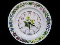 Royal Worcester Worcester herbs plate clock battery operated