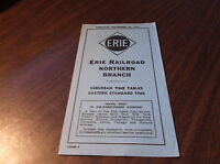 SEPTEMBER 1954 ERIE RAILROAD FORM 9 NORTHERN RAILROAD OF NEW JERSEY