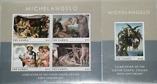 GAMBIA 2013 500th Ann Michelangelo Completing Sistine Chapel Paintings Art MNH