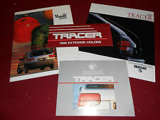 1988 MERCURY TRACER BROCHURE, SALES CATALOG and 2 FOLDERS -- 4 For 1 DEAL!