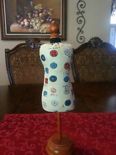 """Dress Form Fabric Mannequin Tabletop Wood Sewing Crafts 11"""" Girls Dolls"""