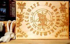 Homemade 11x8 Wood Ouija Board Planchette Pentagram Occult Satanic Altar LaVey