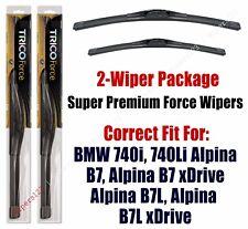 Wipers 2pk 2011+ BMW 740i, 740Li, Alpina B7 B7L, Alpina B7 B7L xDrive 25260/190
