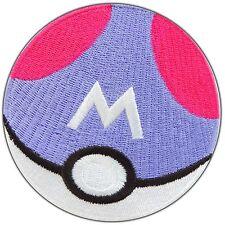 Pokemon Master Ball Cartoon Pikachu Go Poke Game Monster Iron on Patches #0971