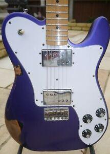 Fender Telecaster Deluxe 72 Purple Nitrocellulose Roadworn MIM Electric Guitar