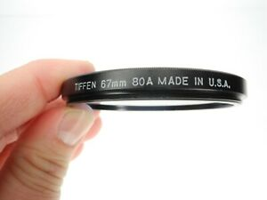 Tiffen 67mm 80A Blue Camera Lens Filter Made In The U.S.A.