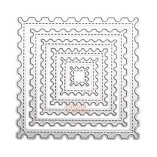6pcs Square Wave Cutting Dies Stencil For DIY Scrapbook Album Paper Card Crafts