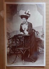 Postcard middle age Lady Studio pose  Early fashions  RPPc unposted