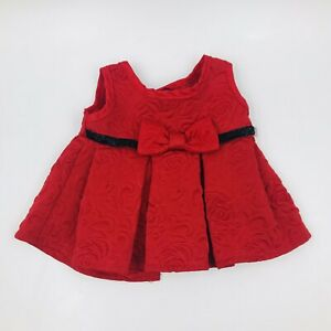Build A Bear Red Party Dress With Bow & Floral Pattern