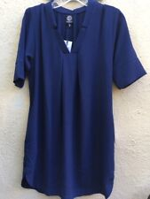 NWT Bobeau Navy Blue Shift Dress Medium Petite-Pockets -Knee-Career -Nordstrom