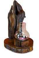 Windlicht Holz Wurzelholz Wurzel Teak Kerzenständer Kerzenhalter Glas Deko Kerze